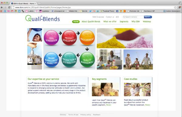 Quali-Blends, één van de sterke product merken in lijn met de DSM merkstrategie.